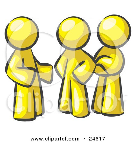 http://images.clipartof.com/small/24617-Clipart-Illustration-Of-A-Group-Of-Three-Yellow-Men-Talking-At-The-Office.jpg