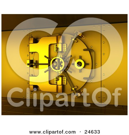 Secured Gold Bank Vault Locked, Cast In Gold Lighting Posters, Art Prints