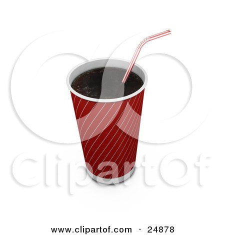 Boy taking a gulp from a large fountain soda posters art for Pizza in a mug without baking soda
