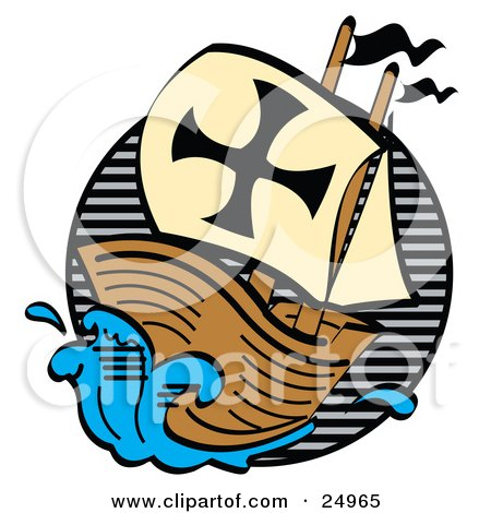 clipart picture of a ship the mayflower carrying pilgrims on the rh clipartof com mayflower compact clipart mayflower compact clipart