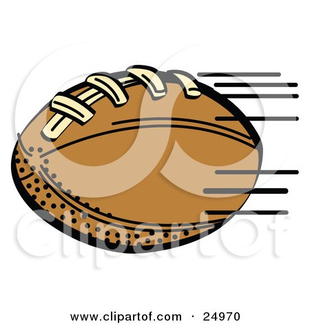 Fast Brown Leather American Football Speeding Through The Air During A Game Posters, Art Prints