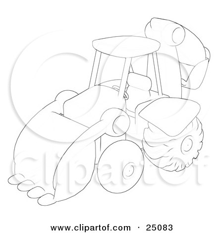 Sketch Of A Construction Backhoe Machine Posters, Art Prints