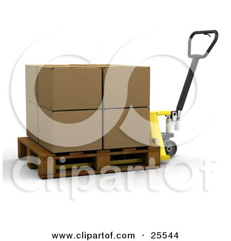 Large Cardboard Box Being Moved On A Pallet Truck Posters, Art Prints