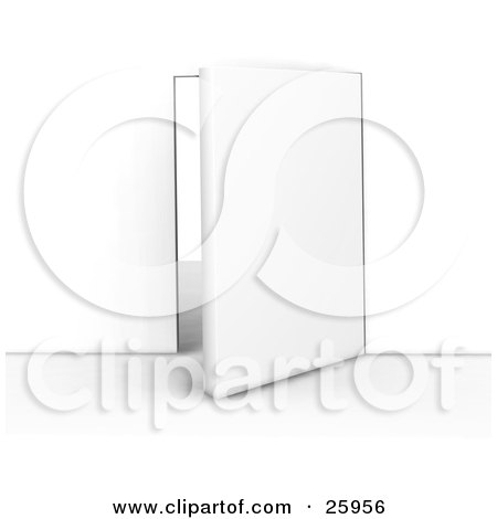 Clipart Illustration of an Open Office Door Of Opportunity by KJ Pargeter