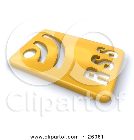 Blog Backgrounds on Clipart Illustration Of A Golden Rectangular Rss Blog Button