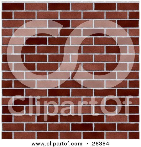 Clipart Illustration Of A Background Of Dark And Light Bricks In A Wall