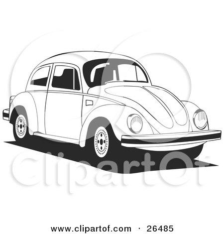 Black And White VW Bug Car