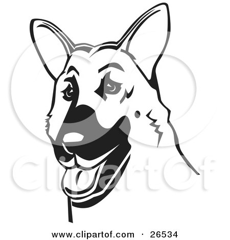Royalty-Free (RF) Clipart of German Shepherd Dogs, Illustrations ...