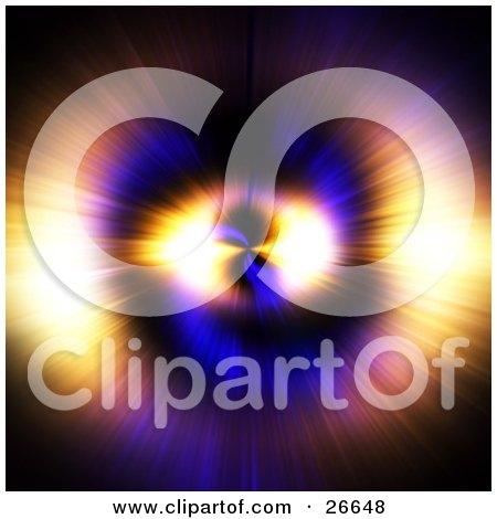 Bursting Purple, Blue, Pink, Yellow And Orange Light Resembling An Eye Posters, Art Prints