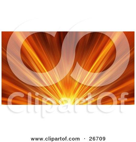 Fiery Burst Of Orange Light With Yellow Beams Posters, Art Prints