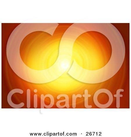 Circular Burst Of Orange And Yellow Light Posters, Art Prints