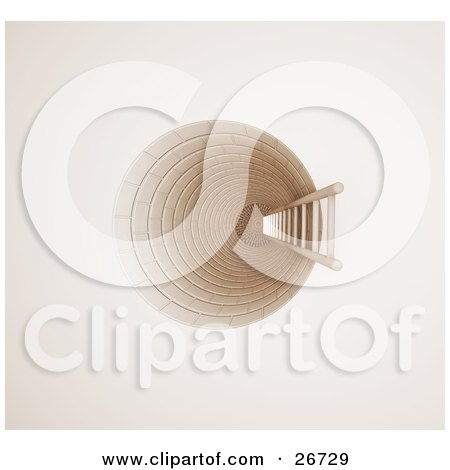 Clipart Illustration of a Ladder Leading The Way Up Out Of A Hole, Symbolizing Opportunity Or Escape by KJ Pargeter