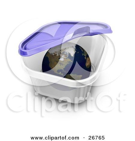Clipart Illustration of The World Inside A Tupperware Container, The ...