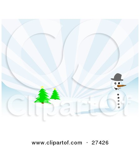 Frosty the Snowman Black Hat
