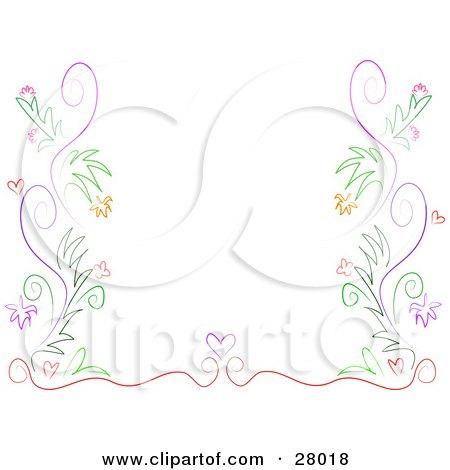 purple swirl border templates