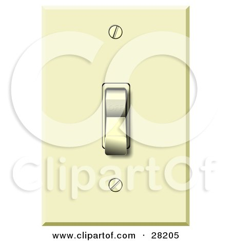 Clipart Illustration of an Electrical Flip Light Switch In The Off Position by djart