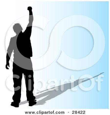 28422-Clipart-Illustration-Of-A-Black-Si