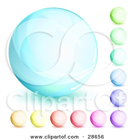 Clipart Illustration of an Orb Set Of Blue, Green, Purple, Red, Pink And Yellow Circles by beboy
