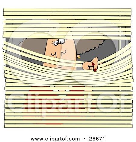 Royalty Free RF Peeking Clipart Illustrations Vector