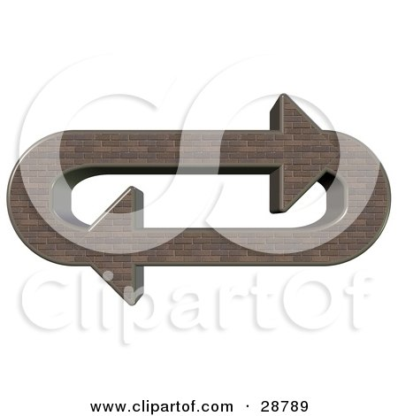 Clipart Illustration Of An Oval Of Brown Brick Arrows Moving In A Clockwise Motion