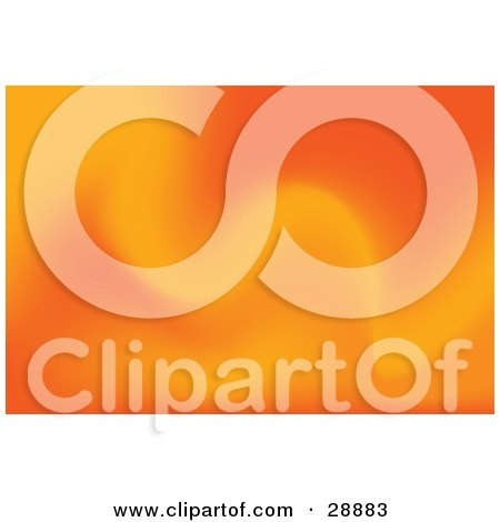 Clipart Illustration of a Background Of Soft Orange Waves by Tonis Pan
