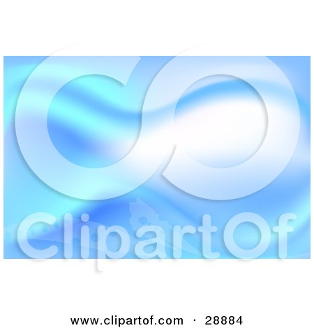 Clipart Illustration of a Fantasy Or Underwater Background Of Blue And White Waves And Dots by Tonis Pan