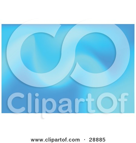 Clipart Illustration of a Background Of Soft Blue Waves by Tonis Pan