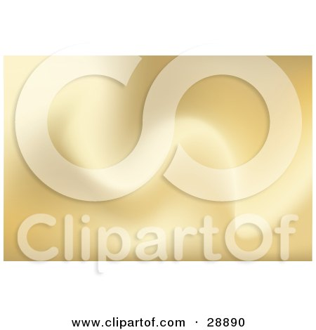 Clipart Illustration of a Background Of Soft Golden Waves by Tonis Pan