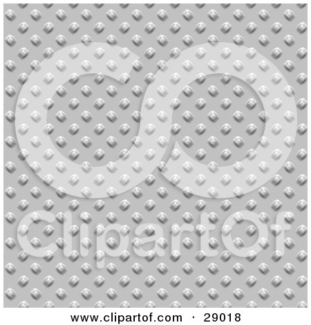 Clipart Illustration of a Background Of Riveted Chrome by KJ Pargeter