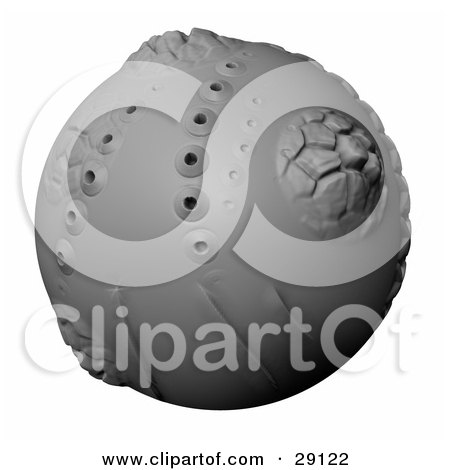 Clipart Illustration Of An Alien Planet Of Clay With Craters Mountains And Volcanic Hills