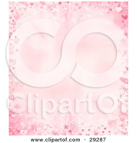 Royalty-free design clipart picture of a valentines day border of pink