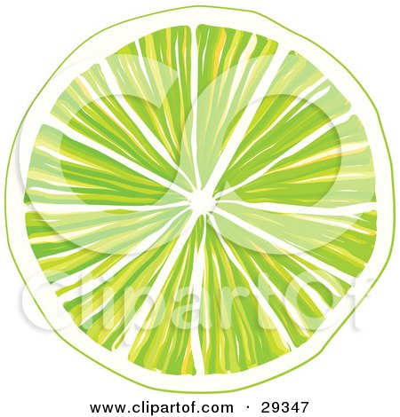 Clipart Illustration of a Slice Of Orange With Juicy Pulp, Over A White Background by suzib_100