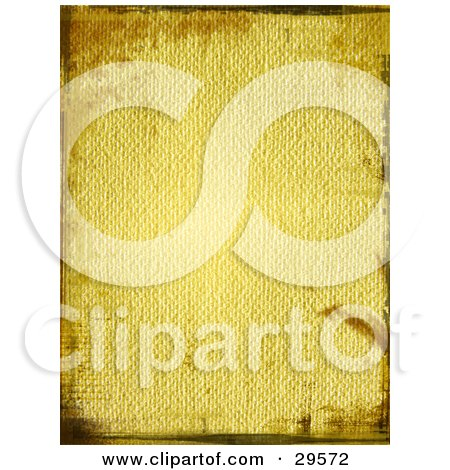 Clipart Illustration of a Textured Canvas Background Bordered By Faint Grunge Marks by KJ Pargeter