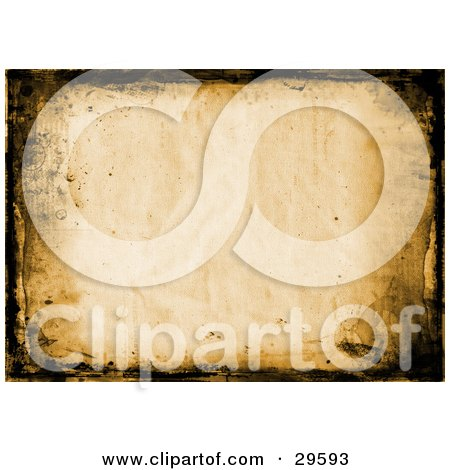 Black Grunge Marks Around A Parchment Paper Background Posters, Art Prints