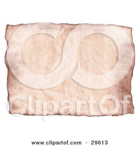 Blank Piece Of Pinkish Wrinkled Parchment Paper On A White Background Posters, Art Prints