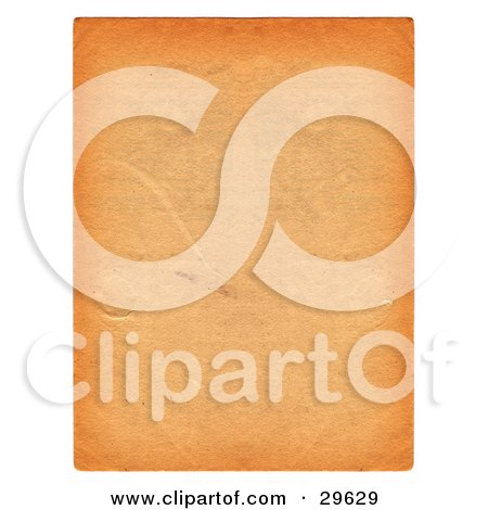 Clipart Illustration of an Orange Textured Piece Of Blank Parchment Paper With Scuff Marks, Bordered By White by KJ Pargeter