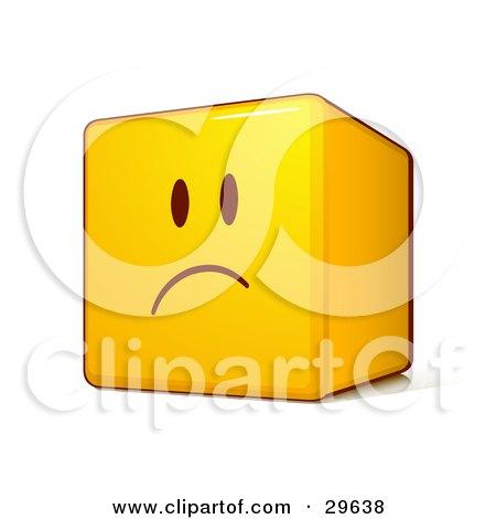 a Sad Yellow Smiley Face