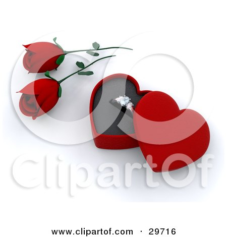 Volim crveno - Page 5 29716-Clipart-Illustration-Of-Red-Roses-Beside-A-Gold-Engagement-Ring-In-A-Box