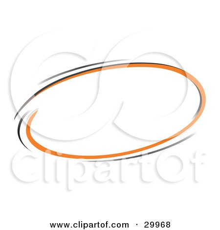 Clipart Illustration of a Pre-Made Logo Of A Circle Of Orange And Black by beboy