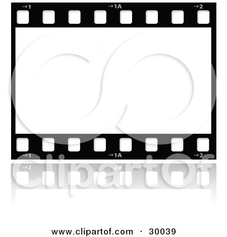 Clipart Illustration of a Large Film Strip With A Blank Frame by KJ ...