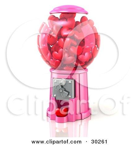Pink Bubble Gum Machine