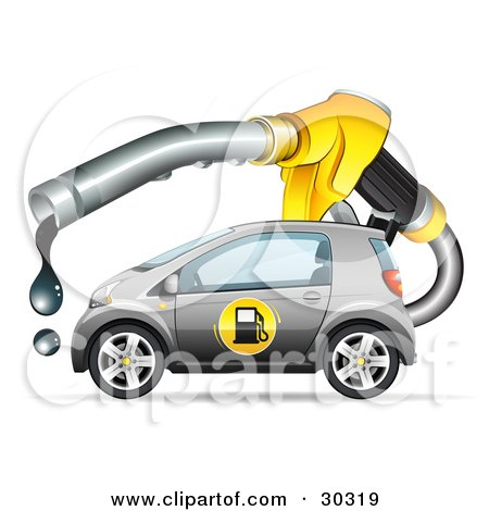 Clipart Illustration Of A Gray Compact Gasoline Powered