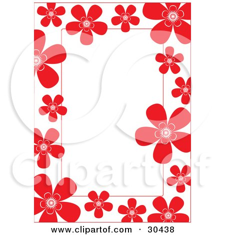 Clipart Illustration Of A Stationery Border Or Frame Of