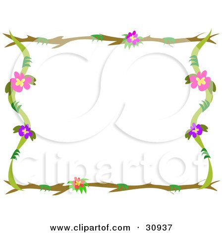 clip art borders flowers. Clipart Illustration of a