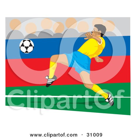 Soccer Player Kicking A Ball During A Game Posters, Art Prints