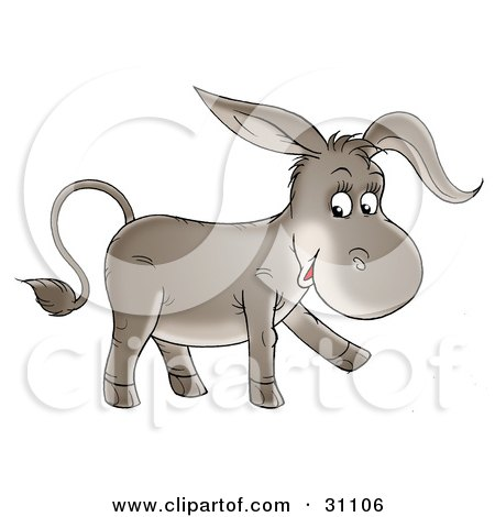 Adorable Baby Donkey Walking And Smiling Posters, Art Prints