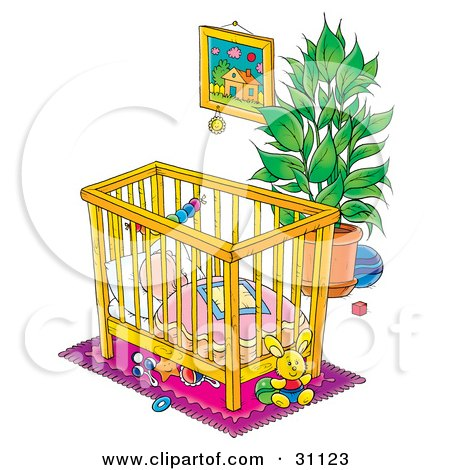 Royalty Free Rf Crib Clipart Illustrations Vector