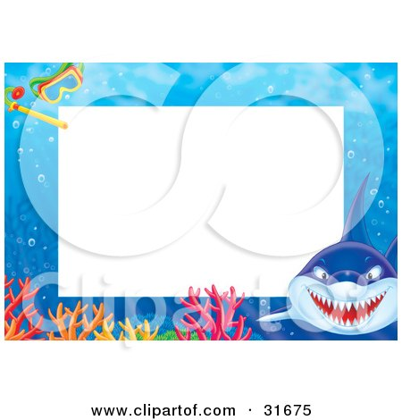 Clipart Illustration of a Stationery Border Or Frame With A Mean ...