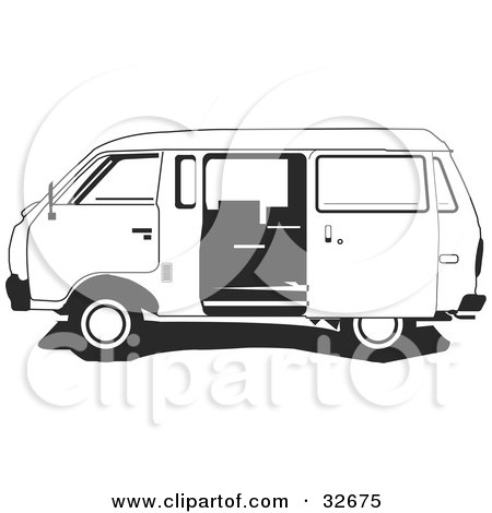 van black and white clipart - photo #38
