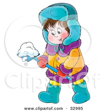 Royalty-Free (RF) Clipart of Winter Clothes Illustrations Vector Graphics #1